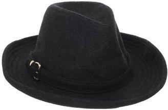 San Diego Hat Company San Diego Hat Women's Felt Fedora with Silver Buckle