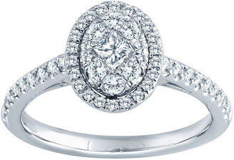 Nicole Miller Nicole By 5/8 CT. T.W. Diamond 14K White Gold Oval Bridal Ring