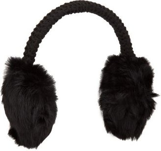 Hat Attack Rabbit Fur Earmuffs