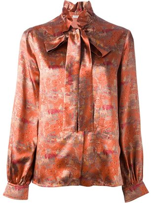 Givenchy Vintage printed pussy bow blouse