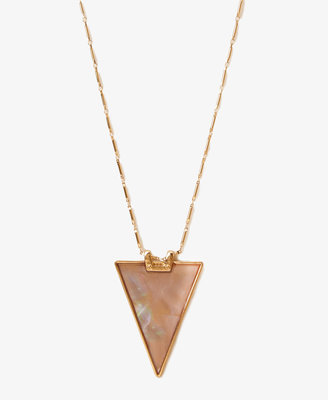 Forever 21 Shell-Plated Triangle Necklace