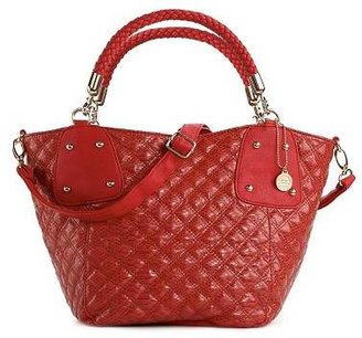 Big Buddha Grifin Quilted Satchel