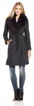 Corey Lynn Calter Women's Gretchen Fur Collar Coat