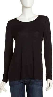 BCBGMAXAZRIA Draped Back Knit Top, Black