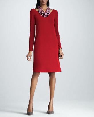 Eileen Fisher Scoop-Neck Jersey Dress, Petite