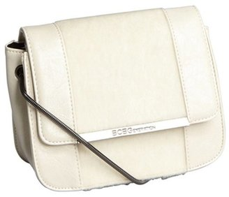 BCBGeneration vanilla faux leather and faux fur chain strap small shoulder bag