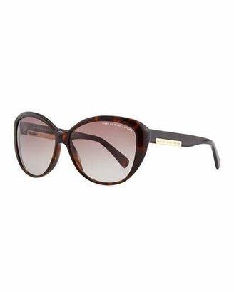 MARC by Marc Jacobs Luna Logo Plaque Sunglasses, Havana $130 thestylecure.com