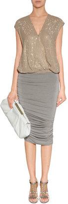 Donna Karan Hemp Crushed Skirt