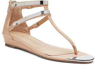 Chinese Laundry Say My Name Ankle Strap Sliver Wedge