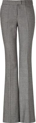 Rachel Zoe Black/Beige Wool Glen Plaid Flared Hutton Pants