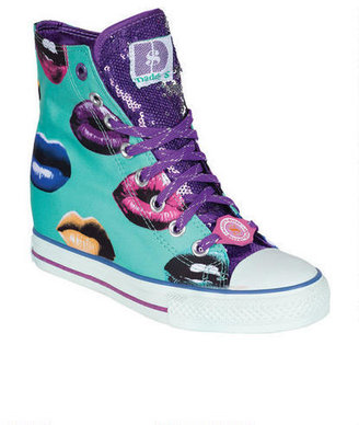 Delia's Daddy's Money Gimme Kisses Sneaker Wedge