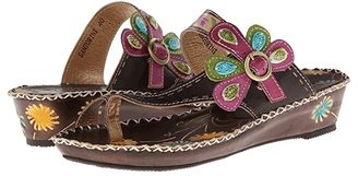 Spring Step L'Artiste by Santorini (Brown Leather) Women's Sandals