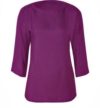 See by Chloe Purple Textured Silk Tunic