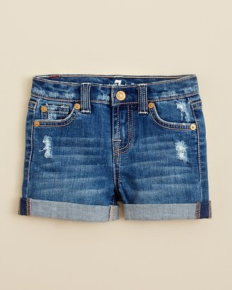 7 For All Mankind Infant Girls' Cuffed Shorts - Sizes 12-24 Months