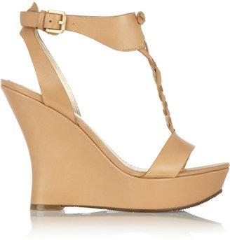 Sigerson Morrison Belle Leather wedge sandals