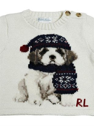 Ralph Lauren Embroidered Heavy Cotton Sweater
