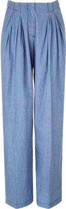 See by Chloe Light blue wide leg pants