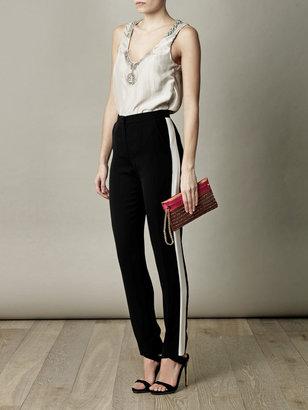 Lanvin Embellished washed-silk top