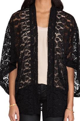 Anna Sui Tartan Plaid & Lace Kimono