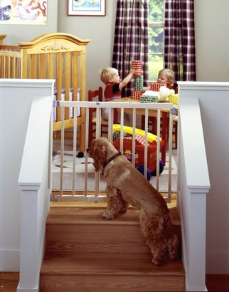 """North States Stairway Swing Gate - 4630 - Natural - 28 to 42"""""""