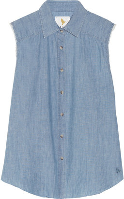 MiH Jeans The Sleeveless chambray shirt