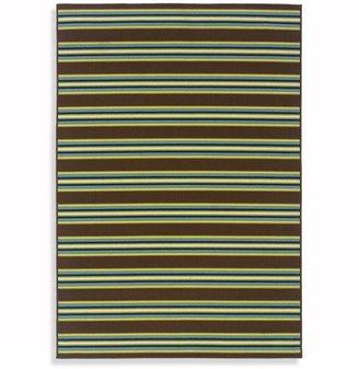 Oriental Weavers Caspian Indoor/Outdoor Rug in Brown Stripe