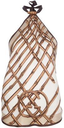 Gucci logo printed halterneck top