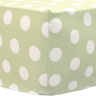 My Baby Sam Green Polka Dot Fitted Crib Sheet
