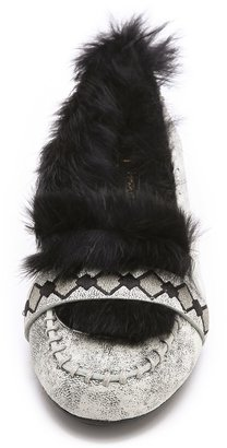 House Of Harlow Macey Fur Lined Moccasins