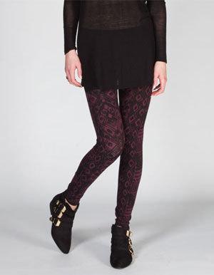 Full Tilt Ethnic Sketch Print Womens Leggings