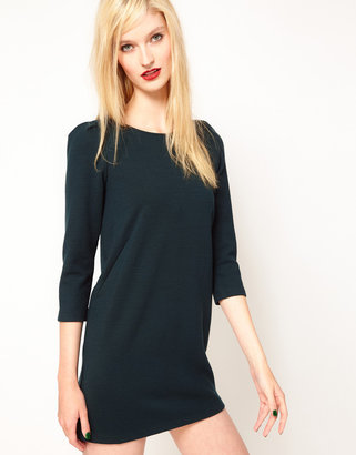 Sessun Double Jersey Mini Dress with Zip Detail