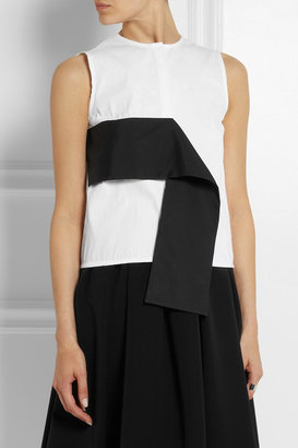 J.W.Anderson Drape-paneled cotton-jacquard top