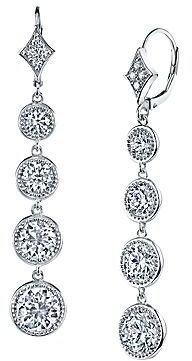 JCPenney FINE JEWELRY DiamonArt 4-Stone Cubic Zirconia Drop Earrings