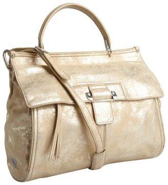 Kooba light gold metallic leather 'Aiden' convertible satchel