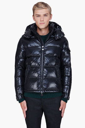 Moncler Black Padded Hooded Maya Jacket