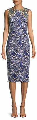 Diane von Furstenberg Paisley Print Sleeveless Sheath Dress