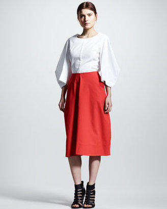 Jil Sander Four-Panel Pique Skirt
