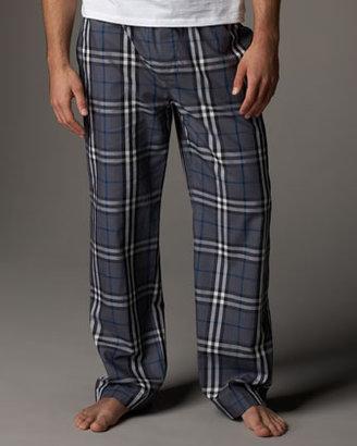 Burberry Check Pajama Set, Gray