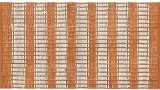 Crate & Barrel Kurt Tangerine Rug