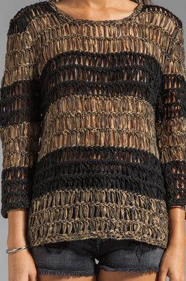 Evil Twin Under Fire Striped Sweater