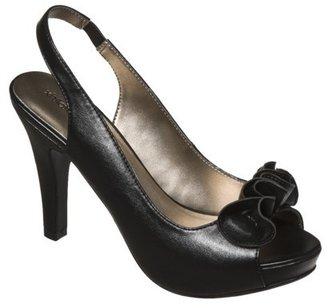 Xhilaration Women's Tacey Ruffle Platform Sandals - Black