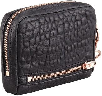 Alexander Wang Fumo Zip-Around Wristlet Bag, Black