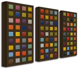 STUDY 3-pc. ''Collage III'' Canvas Wall Art Set by Michelle Calkins