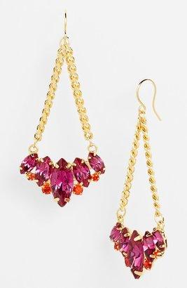 Nordstrom 'Lady Lux' Stone & Chain Chandelier Earrings