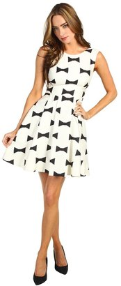 Kate Spade All Wrapped Up Marilyn Dress (Clotted Cream/Black Bow Tie Large) - Apparel