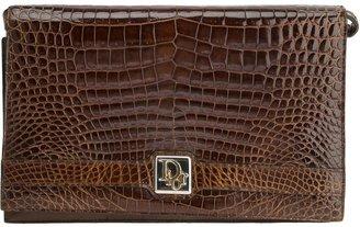 Christian Dior crocodile leather shoulder bag