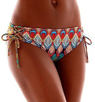 JCPenney Bisou Bisou® Tribal Lace-Up Swim Top or Hipster Bottoms
