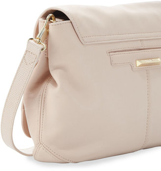 Elizabeth and James Cynie Lambskin Medium Crossbody Bag, Champagne