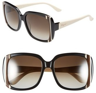 Salvatore Ferragamo 56mm Sunglasses