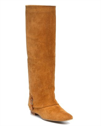"""Delman Darcy"""" Tall Suede Flat Boots"""